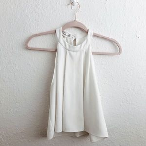 Bishop and Young High Neck Halter Tank Top Blouse